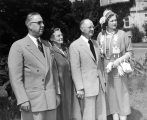 Thorpe B. Isaacson and Henry Aldous Dixon with their wives, 1953