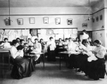 Sewing class at the Branch Normal School in Cedar City, Utah, 1908-09