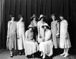 Posed group of elegant young women, circa 1925