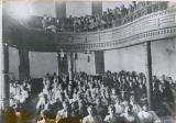 The Chapel (Auditorium) in Old Main building, Utah State University, circa 1891