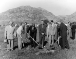 Ground breaking for the Edith Bowen Laboratory School, 1955