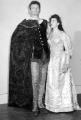 Man and woman posed in theatrical costume, 1948