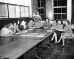 Group of women at a meeting, 1940s