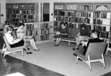 Students reading in the Moore Library, 1960s