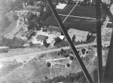 Aerial view of campus looking NNW, circa 1942
