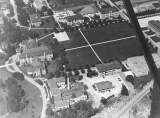 Aerial photo of campus looking north, circa 1942