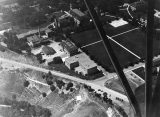 Aerial photo of campus, looking WNW, circa 1942