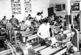Students in a machine shop class
