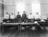 Cooks and the turkeys they roasted for a military Thanksgiving Dinner, 1918