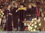 Honorary hooding of Lorenzo Richards, 1974