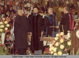 Vice President Gerald R. Ford receiving an honorary degree, 1974