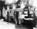 Exhibition of art work done by USU students and a water exhibit at the Utah State Fair, circa 1911