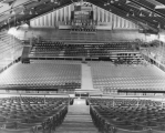 Interior view of the fieldhouse, 1950s