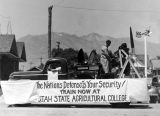 National Defense Float at Hyrum Independence Day Parade, 1941