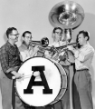 Four performers in the Aggie Pep Band, circa 1953