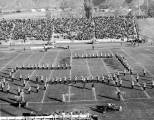 USU Band performing at Romney Stadium, 1954