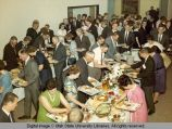Buffet lines at the commencement dinner, 1960s
