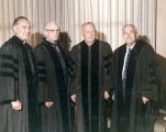 Honorary degree recipients at the 1971 June Commencement ceremony