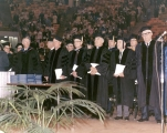 Men at the 1971 June Commencement ceremony