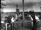 Students in the Chemistry laboratory on the third floor of Old Main, circa 1900.