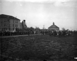 Track meet on the Quad, circa 1905