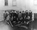 Civil Engineering class with surveying equipment, circa 1900