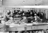 Radio class in the Mechanic Arts building, circa 1918