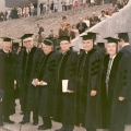 Group of men in academic robes, circa 1971