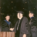 Percy H. McGauhey during the hooding ceremony, 1971