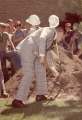 Bob Hope wielding a shovel, 1970s