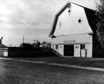 View of the Horse Barn from the southeast, 1948.  Barn would later be called the Art Barn.