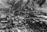 Aerial view of campus looking east, 1963