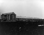 Poultry building on the campus Experiment Station farm, circa 1905