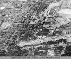 Aerial view of campus and North Logan, circa 1943