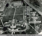 Aerial view of central campus, 1968