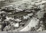 Aerial view of central campus, 1955