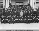 Class of 1927 on Old Main steps, 1927