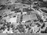 Aerial view of USAC campus, 1943