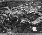 Aerial view of campus, circa 1963
