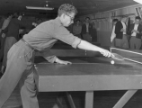 Students playing ping pong, 1940s
