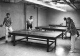 Students playing ping pong, 1950s