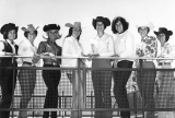 Eight women wearing cowboy hats, 1960s