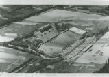 Architectural drawing of the new Romney Stadium by G. Eugene Haycock & Associates