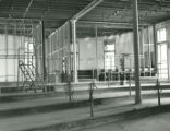 Second floor language lab from the doorway in Old Main during the restoration process following...