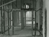 Second floor looking north in Old Main during the restoration process following the fire