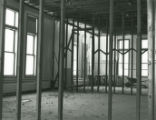 Former classroom in the northeast corner of the second floor of Old Main during the restoration...