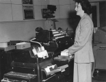 Woman working in the Computer Center, 1950s