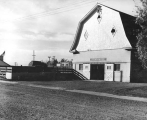 View of the Horse Barn from the southeast, 1940s.  Barn would later be called the Art Barn.