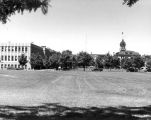 Campus view of the south half of the Quad, 1950s