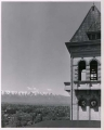 Old Main tower and view of Logan and Cache Valley, 1940s